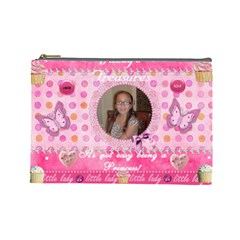 Jazzy By Virginia Rodriguez   Cosmetic Bag (large)   Bh696szz3mbz   Www Artscow Com Front