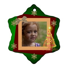 Christmas Dreams Snoflake Ornament (2 Sided) By Deborah   Snowflake Ornament (two Sides)   Nrfzaqxa62xq   Www Artscow Com Back
