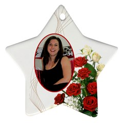 Christmas Rose Star Ornament (2 Sided) By Deborah   Star Ornament (two Sides)   Wwgrmymflpuv   Www Artscow Com Front