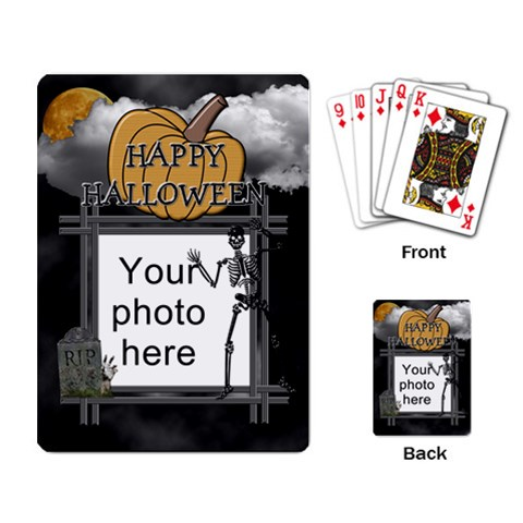 Halloween Playing Cards By Lil    Playing Cards Single Design   Jokee5c2i4jc   Www Artscow Com Back