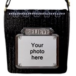 Believe Flap Closure Small Messenger Bag - Flap Closure Messenger Bag (S)