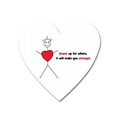 Antibully Lk Magnet (heart) by createdbylk