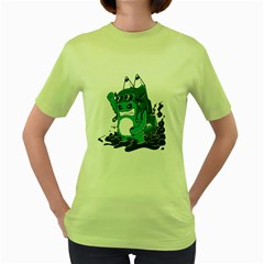 FlyHigh Womens  T-shirt (Green) by Contest1718777