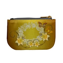 Gold White Floral Butterfly Wedding 2 Designs Coin Purse By Ellan   Mini Coin Purse   62jnfk5d93jf   Www Artscow Com Back