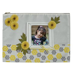 Cosmetic Bag (xxl)   Happiness 3 By Jennyl   Cosmetic Bag (xxl)   Yevrecj2po25   Www Artscow Com Front