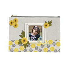 Cosmetic Bag (l)   Happiness 3 By Jennyl   Cosmetic Bag (large)   Pactqfcl3v6l   Www Artscow Com Front