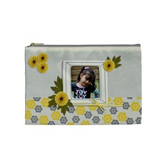 Cosmetic Bag (m) Happiness 3 By Jennyl   Cosmetic Bag (medium)   Vsl8mfsgmqc3   Www Artscow Com Front