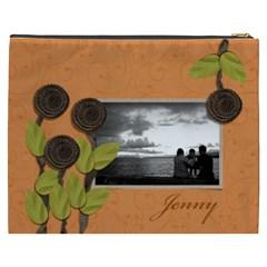 Cosmetic Bag (xxxl) My Flower Garden 2 By Jennyl   Cosmetic Bag (xxxl)   Tgglldoqsf94   Www Artscow Com Back