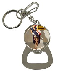 Retro Pin Up Girl Bottle Opener Key Chain by PinUpGallery