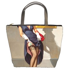 Retro Pin Up Girl Bucket Bag by PinUpGallery