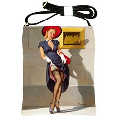 Retro Pin Up Girl Shoulder Sling Bag by PinUpGallery