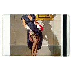 Retro Pin Up Girl Apple Ipad 3/4 Flip Case by PinUpGallery