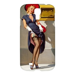 Retro Pin Up Girl Samsung Galaxy S4 I9500 Hardshell Case by PinUpGallery