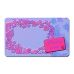 thinking of you flower magnet - Magnet (Rectangular)