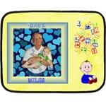Boy s ABC mini blanket 2 - Double Sided Fleece Blanket (Mini)
