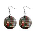 Remember When Santa Christmas button earrings - 1  Button Earrings