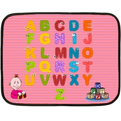 Girls  Abc Mini Blanket 2 By Joy Johns   Double Sided Fleece Blanket (mini)   Vxzyru2bvcai   Www Artscow Com 35 x27 Blanket Front