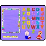Boy/Girl ABC medium blanket - Fleece Blanket (Medium)