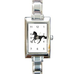 Running Horse Rectangular Italian Charm Watch by mysticalimages