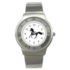 Running Horse Stainless Steel Watch (unisex) by mysticalimages