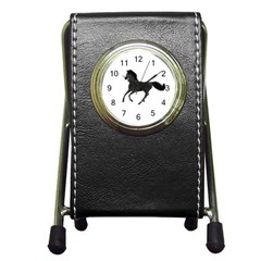 Running Horse Stationery Holder Clock