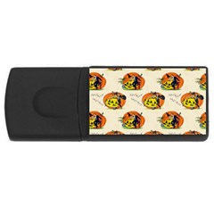 Hallowe en Greetings  4GB USB Flash Drive (Rectangle) by EndlessVintage