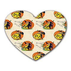 Hallowe en Greetings  Mouse Pad (Heart) by EndlessVintage