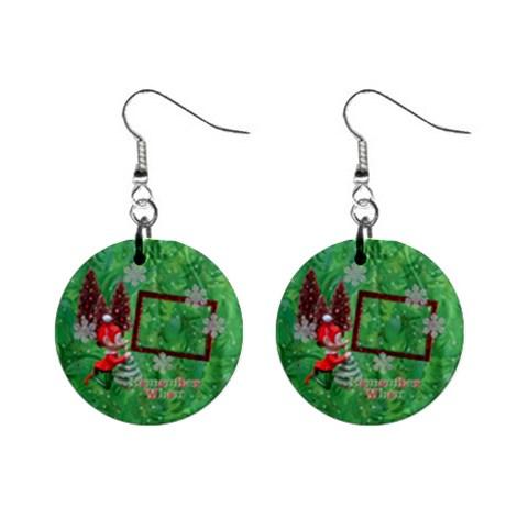 Remember When Elf Christmas Button Earrings By Ellan   1  Button Earrings   Gdeeybxda1e9   Www Artscow Com Front