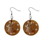 Gold Angel Christmas  button earrings - 1  Button Earrings