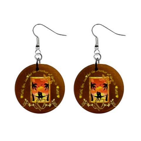 Faith Hope Love Wedding Gold Button Earrings By Ellan   1  Button Earrings   K1f908e2ovc3   Www Artscow Com Front