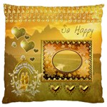 So Happy gold scene Large Cushion Case - Large Cushion Case (One Side)