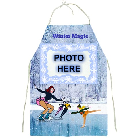 Winter Magic Apron By Joy Johns   Full Print Apron   I2og6uoyw8gn   Www Artscow Com Front