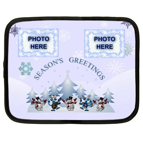 Season s Greetings Xxl Netbook Case By Joy Johns   Netbook Case (xxl)   H0yd18fcdc8u   Www Artscow Com Front