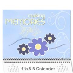 2016 Serenity Blue Photo Calendar 11x8 5 12 Months By Picklestar Scraps   Wall Calendar 11  X 8 5  (12 Months)   Ntwvw7irhaq3   Www Artscow Com Cover
