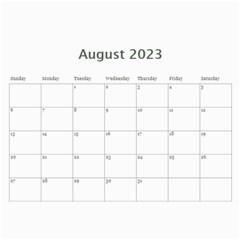 2016 Serenity Blue Photo Calendar 11x8 5 12 Months By Picklestar Scraps   Wall Calendar 11  X 8 5  (12 Months)   Ntwvw7irhaq3   Www Artscow Com Aug 2016