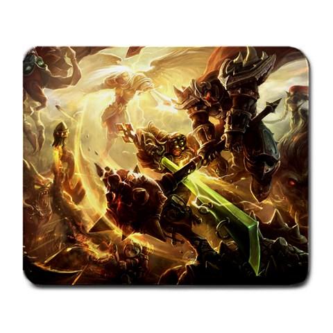 League Of Legends   Yi And Morde Battle By Dan   Large Mousepad   Cy5k2fs26fik   Www Artscow Com Front