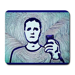 Snapshot Blue Large Mouse Pad (rectangle) by JacklyneMae