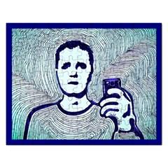 Snapshot Blue Jigsaw Puzzle (rectangle) by JacklyneMae