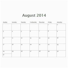 Year Calendar By C1   Wall Calendar 11  X 8 5  (12 Months)   Gcfamue2r9wy   Www Artscow Com Aug 2014