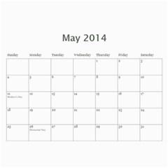 Year Calendar By C1   Wall Calendar 11  X 8 5  (12 Months)   R0sjp0ojam1p   Www Artscow Com May 2014