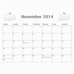 Year Calendar By C1   Wall Calendar 11  X 8 5  (12 Months)   R0sjp0ojam1p   Www Artscow Com Nov 2014