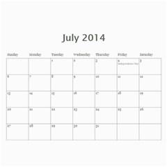 Year Calendar By C1   Wall Calendar 11  X 8 5  (12 Months)   I0ylm62w7rjy   Www Artscow Com Jul 2014