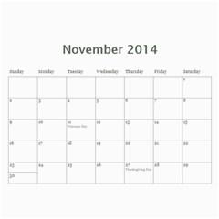 Year Calendar By C1   Wall Calendar 11  X 8 5  (12 Months)   7sovornqk0wt   Www Artscow Com Nov 2014