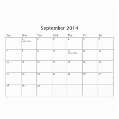 Year Calendar By C1   Wall Calendar 8 5  X 6    D9a2ogzx6fri   Www Artscow Com Sep 2014