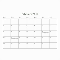 Year Calendar By C1   Wall Calendar 8 5  X 6    D9a2ogzx6fri   Www Artscow Com Feb 2014