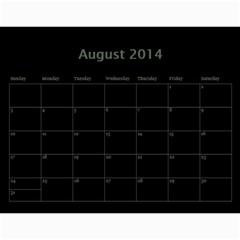 Dug 2014 By Nikki Johnson   Wall Calendar 11  X 8 5  (12 Months)   Lg9kkbrsjig0   Www Artscow Com Aug 2014