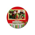 christmas - Rubber Round Coaster (4 pack)