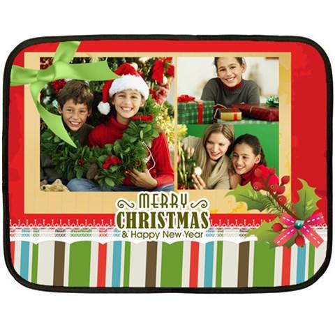 Chriustmas By Merry Christmas   Fleece Blanket (mini)   I88tnnbsm4i4   Www Artscow Com 35 x27 Blanket
