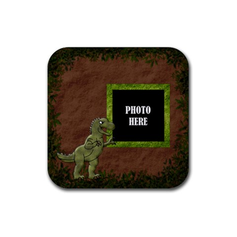 Prehistoric Coaster 2 By Lisa Minor   Rubber Coaster (square)   Vek5g0vjbeke   Www Artscow Com Front