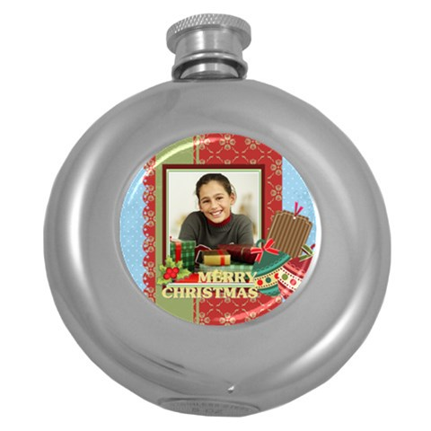 Merry Christmas By Merry Christmas   Hip Flask (5 Oz)   Lbu1vtgv2b5v   Www Artscow Com Front